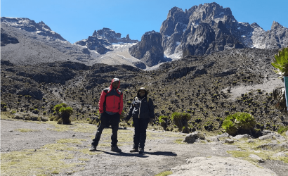 7 days mount kenya climbing chogoria route down narumoru route